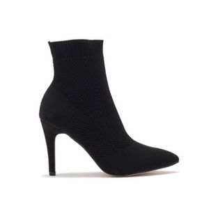 NEW CONDITION MIA SOCK HEELED BOOTIES